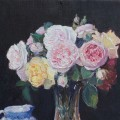 Roses anglaises, oeuvre de Catherine  Arnera